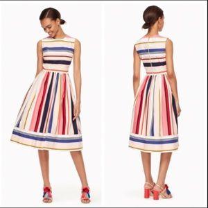 Kate Spade ♠️ Berber Stripe Fit And Flare Dress